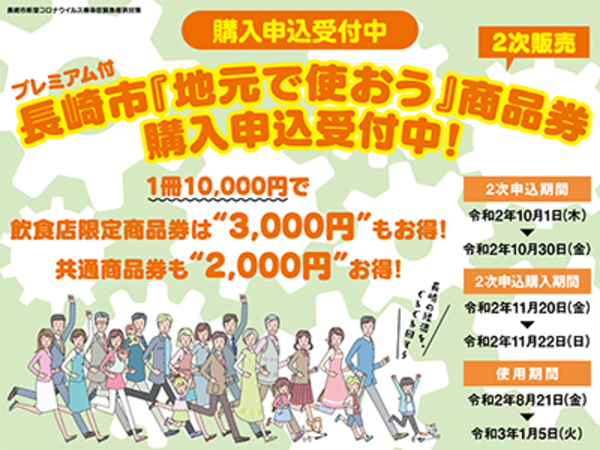 プレミアム付き長崎市地元で使おう商品券サムネイル